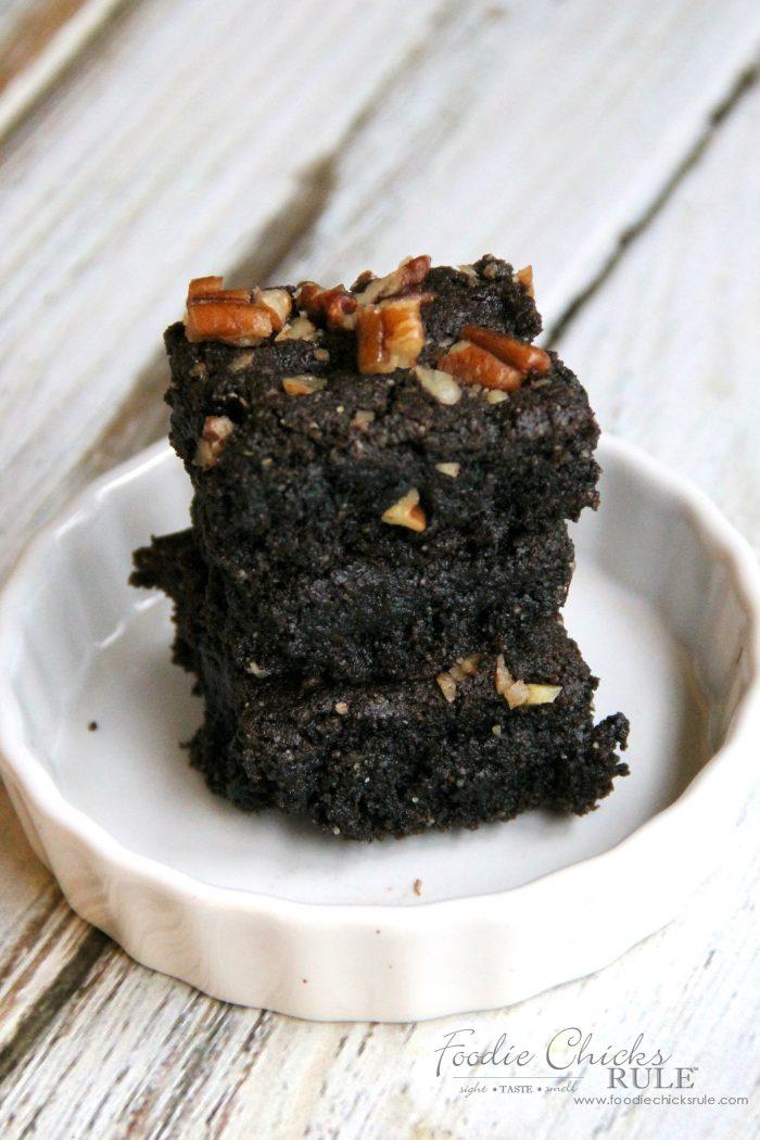 Gluten Free Dark Chococlate Brownies Recipe foodiechicksrule.com