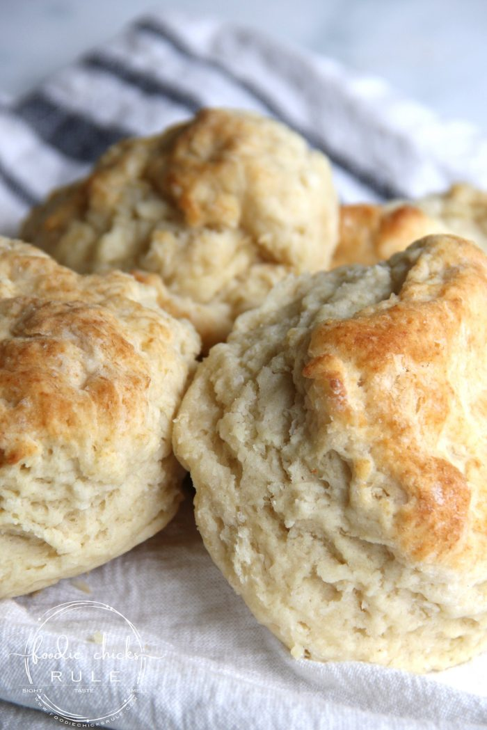BEST Buttermilk Biscuits Recipe...right here! (plus a dairy free version too!) foodiechicksrule.com #buttermilkbiscuits #bestbiscuitrecipe #biscuitrecipe #dairyfreebiscuits
