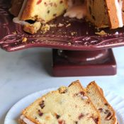 Chocolate Chip Cherry Pound Cake (as good as it sounds!)