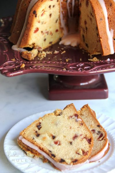Chocolate Chip Cherry Pound Cake