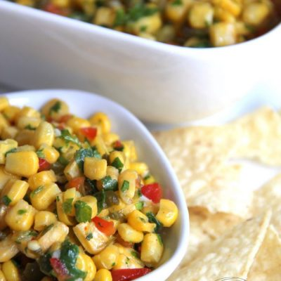 Colorful Corn Salsa (perfect for many dishes!)