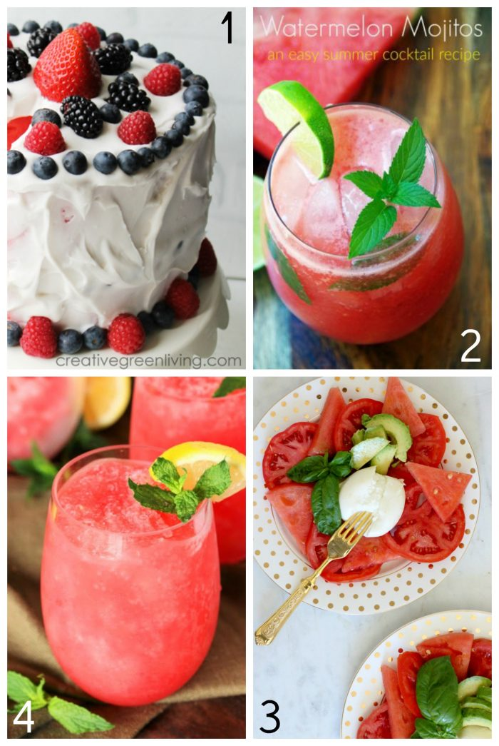50+ Yummy Watermelon Recipes Ideas!! foodiechicksrule.com #watermelon #watermelonrecipes #summerrecipeideas #smoothierecipes #slushierecipes #summerdesserts #summerdrinks #watermelonmojito #watermeloncake #summerfood #watermelondesserts #watermelondrinks