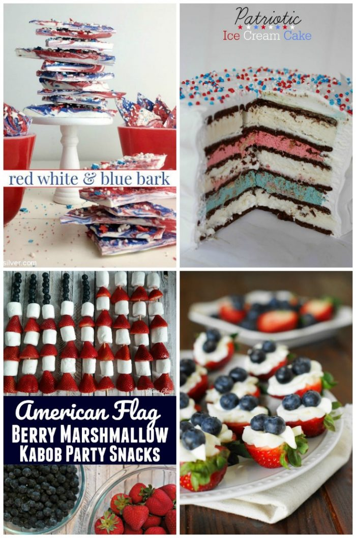 28 Creative PATRIOTIC Food Ideas!!! Perfect for your 4th of July or Memorial Day gatherings! foodiechicksrule.com #4thofjulyrecipes #patrioticrecipes #redwhiteandbluerecipeideas #patrioticfood #summerrecipes #july4threcipes #memorialdayfoodideas #cookoutfoodideas