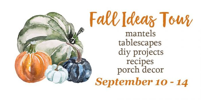 In case you missed the first few days, you can catch all the fall decor and recipes at the bottom of this post. So be sure to scroll all the way down ...
