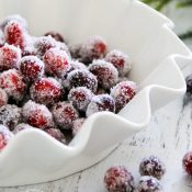 Sugared Cranberries (SO simple and SO good!!!)