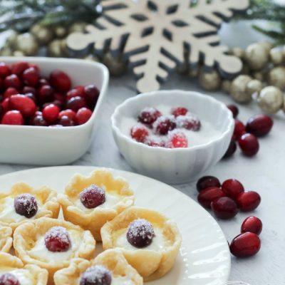 Sugared Cranberry Custard Tarts