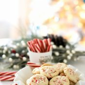 Crunchy Peppermint Cookies (shortbread style!)