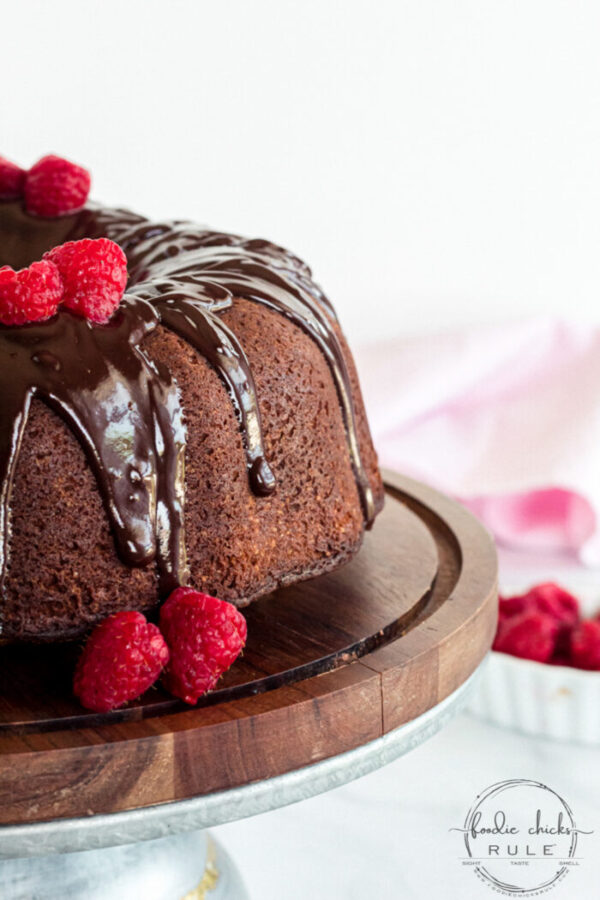 Old Fashioned Chocolate Pound Cake Recipe - Passed down to me! foodiechicksrule.com #chocolatepoundcake #chocolatecake #oldfashionedrecipes #cakerecipes